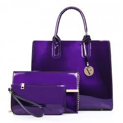 Patent Leather Handbag Shoulder Messenger Bag -