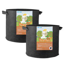 ZETOM Grow Bags, 5 Gallon Thickened Nonwoven Fabric Pots Nursery Garden Pots with Handles Plant Container 2-Pack -