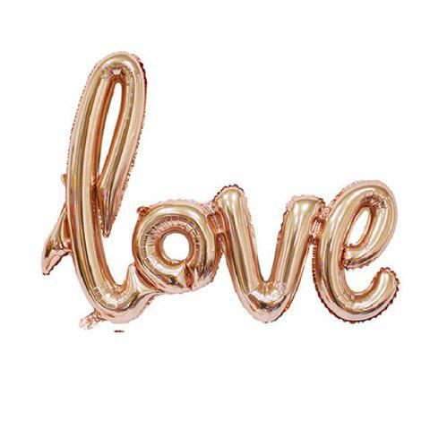 Discount YEDUO  Ligatures LOVE Letter Foil Balloon Anniversary Wedding Valentines Party Decoration Champagne Cup Photo Booth Prop