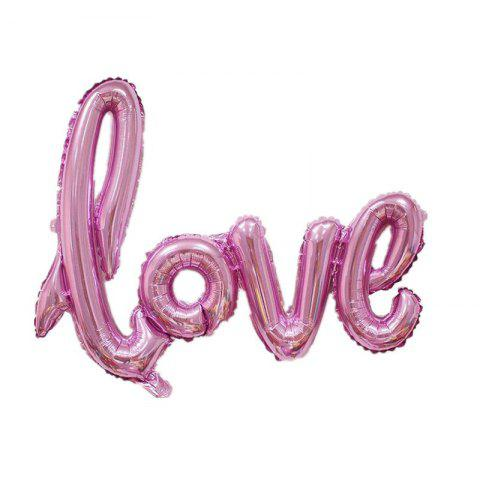 Fancy YEDUO  Ligatures LOVE Letter Foil Balloon Anniversary Wedding Valentines Party Decoration Champagne Cup Photo Booth Prop