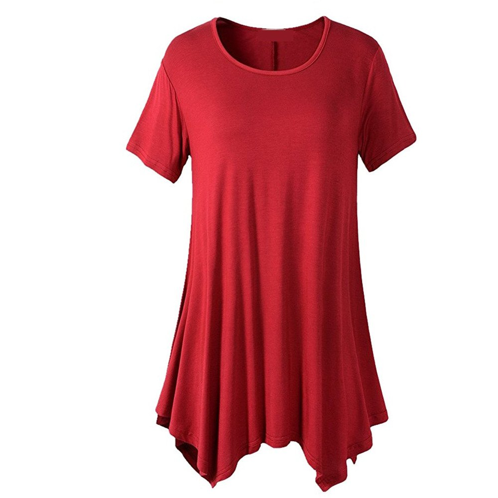Outfit Round Collar Short Sleeved Loose Dress