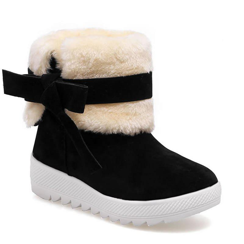 Latest ZHYY-6 Winter with Warm Cotton Fashion All-Match Sleeve Color Round Shoes