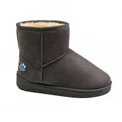 BBHL09 Winter Fashion Casual Sleeves Pure Color and Round Head Snow Boots -