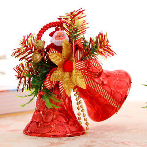 Trendy Christmas Decorations  Double Bells Ornaments Children Gifts