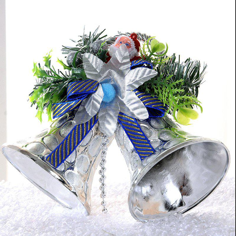 Online Christmas Decorations  Double Bells Ornaments Children Gifts