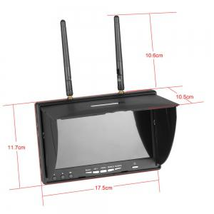 High Quality VR-5802S 5802 40CH Raceband 5.8G 7 Inch Diversity Receiver Monitor With Built-In Battery For FPV Drone -