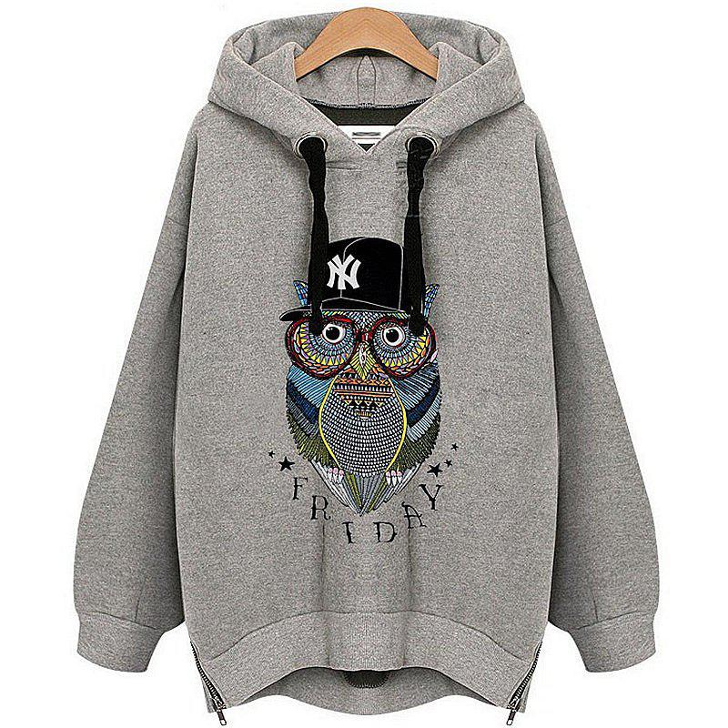 Store Owl Cashmere Fashion Warm Hoodie