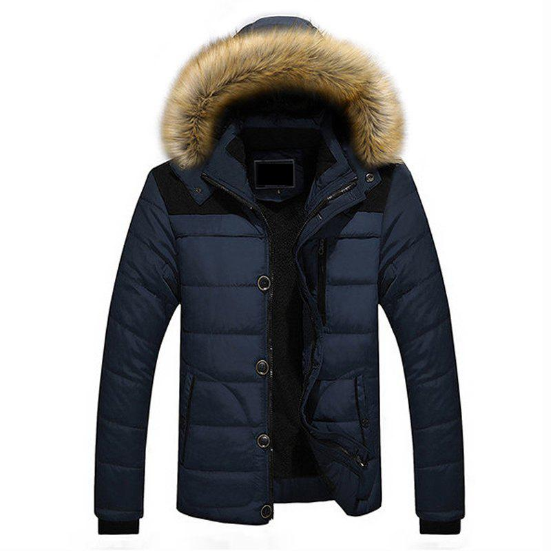 Chic Winter Casual Outdoor Thicken Warm Plus Size Furry Hooded Jacket Coat for Men