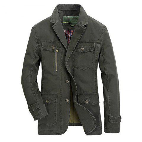 Shops Plus Size Men's Outdoor Jacket Solid Color Casual Business Cotton Coat
