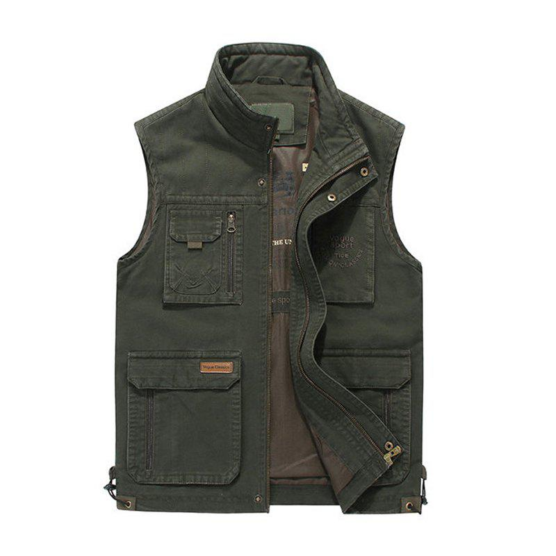 Fashion Plus Size Casual Outdoor Cotton Multi Functions Loose Vests for Men