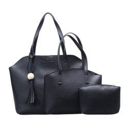 Three Pieces Large-capacity Fashion Handbag Shoulder Bag -
