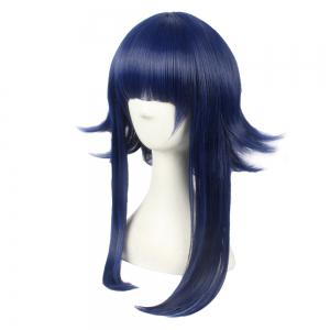 Anime Blue Color Long Straight Women Cosplay Synthetic Hair Party Wig -