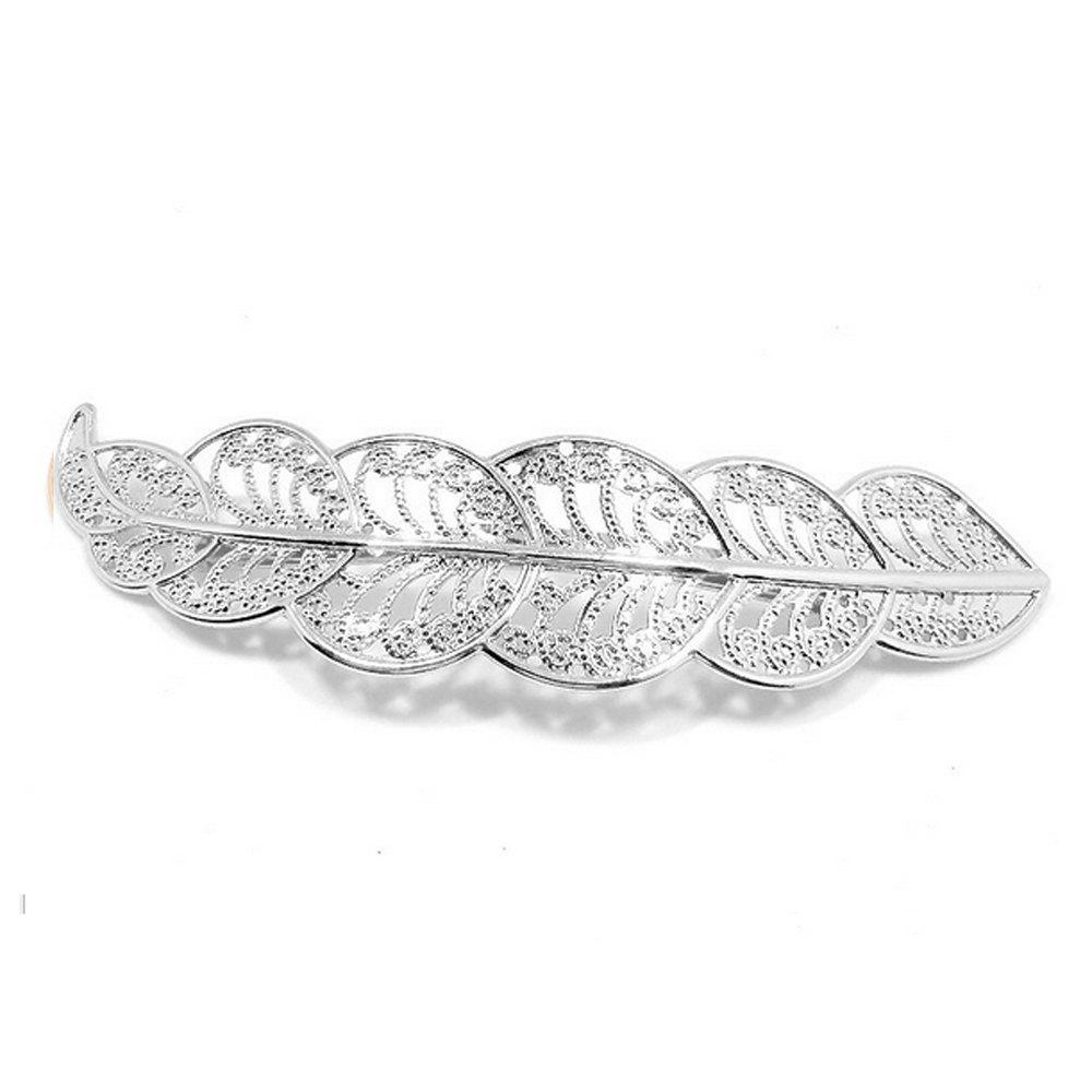 Fancy Women's Hair Clip Sweet Hollowed Leaf Lace Style Hair Pin Accessory