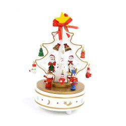 Fantasy Christmas wooden music box music box Christmas tree creative gifts carousel music box decorations -