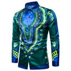 Men's Daily Simple Spring Fall Shirt Daily Chinoiserie Shirt -
