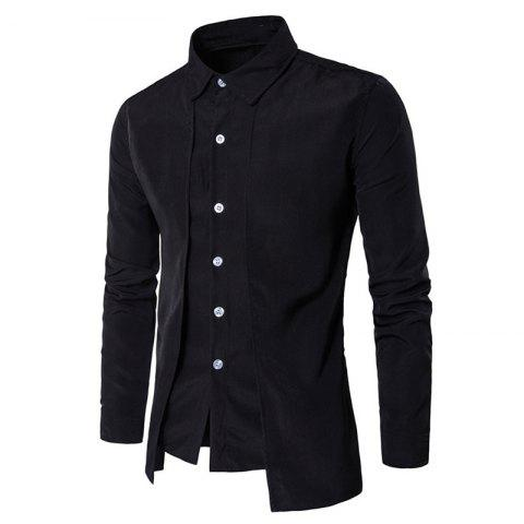 Trendy Men's Daily Simple Spring Fall Shirt Personalized Shirt Casual Shirts