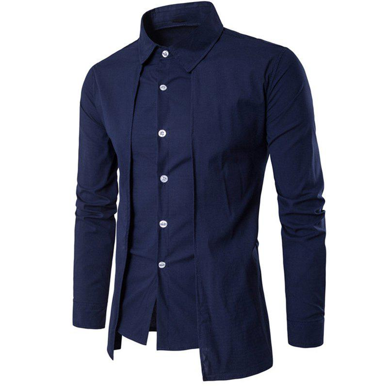 Fashion Men's Daily Simple Spring Fall Shirt Personalized Shirt Casual Shirts