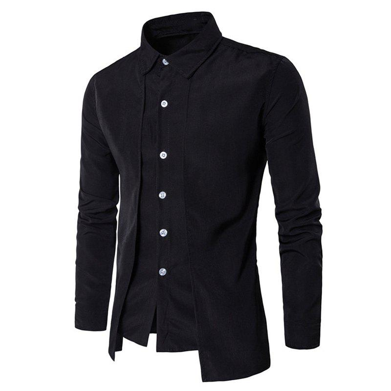 Online Men's Daily Simple Spring Fall Shirt Personalized Shirt Casual Shirts