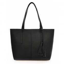 Tassel Fashion Tote Bag Simple Wild Handbag Fashion Casual Shoulder Bag -