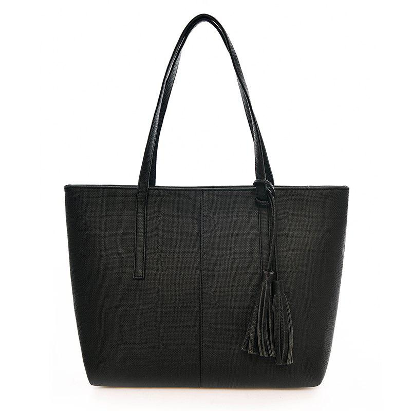 Cheap Tassel Fashion Tote Bag Simple Wild Handbag Fashion Casual Shoulder Bag