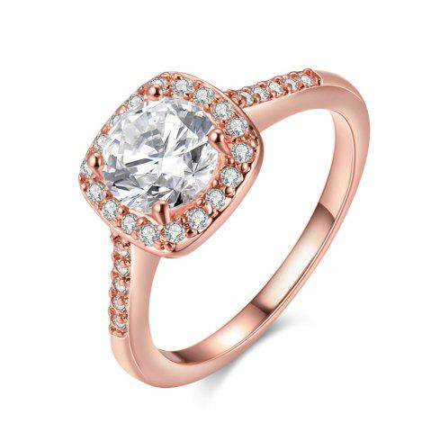Outfits Engagement Rings 18K Rose Gold Plated Luxury Shining Anniversary Gift Wedding Bands Jewelry