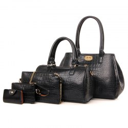 Crocodile Pattern Five Pieces of Mother Bag Shoulder Bag Diagonal Package -