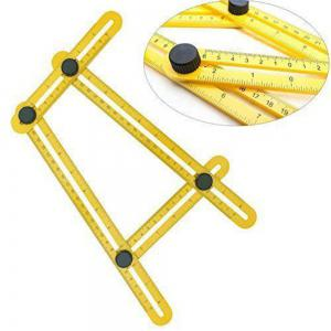 Multifunctional Four Folding Plastic Ruler Metric Scale Measuring Angle Ruler -