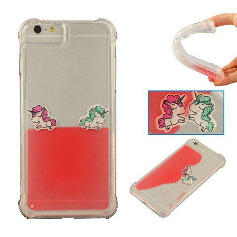 Affordable For IPhone 6 Plus Cartoon Unicorn Horse Water Liquid Transparent Case for iPhone 6S Plus Soft TPU Phone Case Back Covers