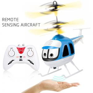 Upgrade Mini RC Helicopter Induction Suspension Remote Controll Plane Toys -