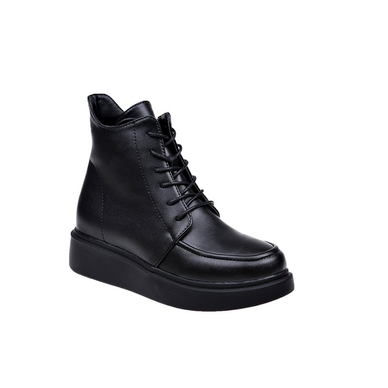 Shop XHEX-807 High Quality Shoe Upper Soft Sole and Comfortable Heel  Pure Color Short Tube Martin Boots