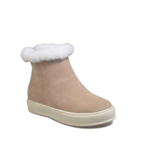 Chic JJX839 Winter Warm and Comfortable Fashion All-Match Rubber Sole Solid Short Tube with Low Head Snow Boots