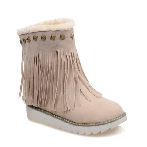 Latest Women Shoes Round Toe Platform Tassel Snow Boots