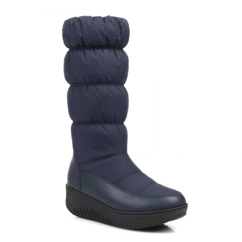 Cheap Women Shoes Nylon Zip Round Toe Snow Boots
