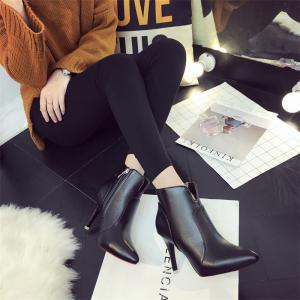 Concise Women Shoes Pointed Toe Stiletto Heel Ankle Boots -