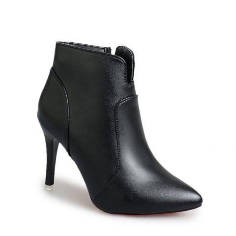 Hot Concise Women Shoes Pointed Toe Stiletto Heel Ankle Boots