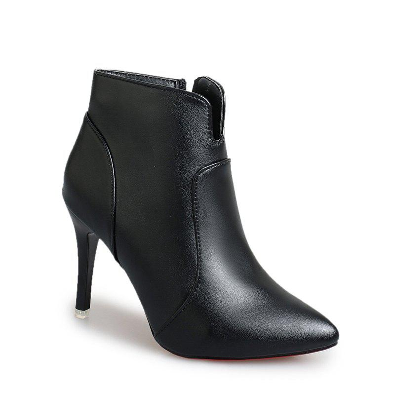 New Concise Women Shoes Pointed Toe Stiletto Heel Ankle Boots
