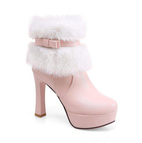 Sale Women Shoes Round Toe Sweet Bowtie Ankle Boots