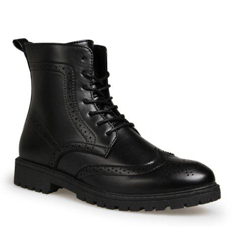 outlet discount authentic buy cheap comfortable Men Casual Leather Rubber Trend for Fashion Lace Up Ankle Boots - Black 43 outlet finishline quality from china cheap fashionable online ZAV8K