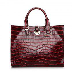 Fashion Crocodile Lines Clasp Hands The Bill of Lading Shoulder Bag -