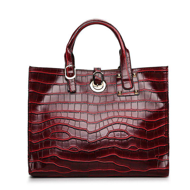 Latest Fashion Crocodile Lines Clasp Hands The Bill of Lading Shoulder Bag