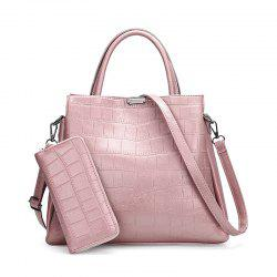 Two-pIece Crocodile Grain Fashion Hand The Bill of Lading Shoulder Bag -