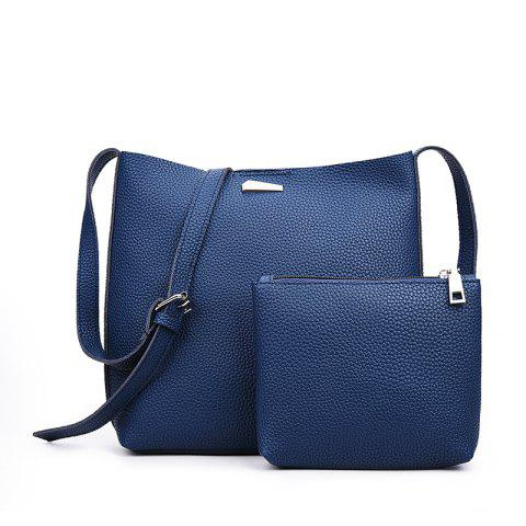 Shops Two-piece Fashion Litchi Grain Water Bucket Female Bag