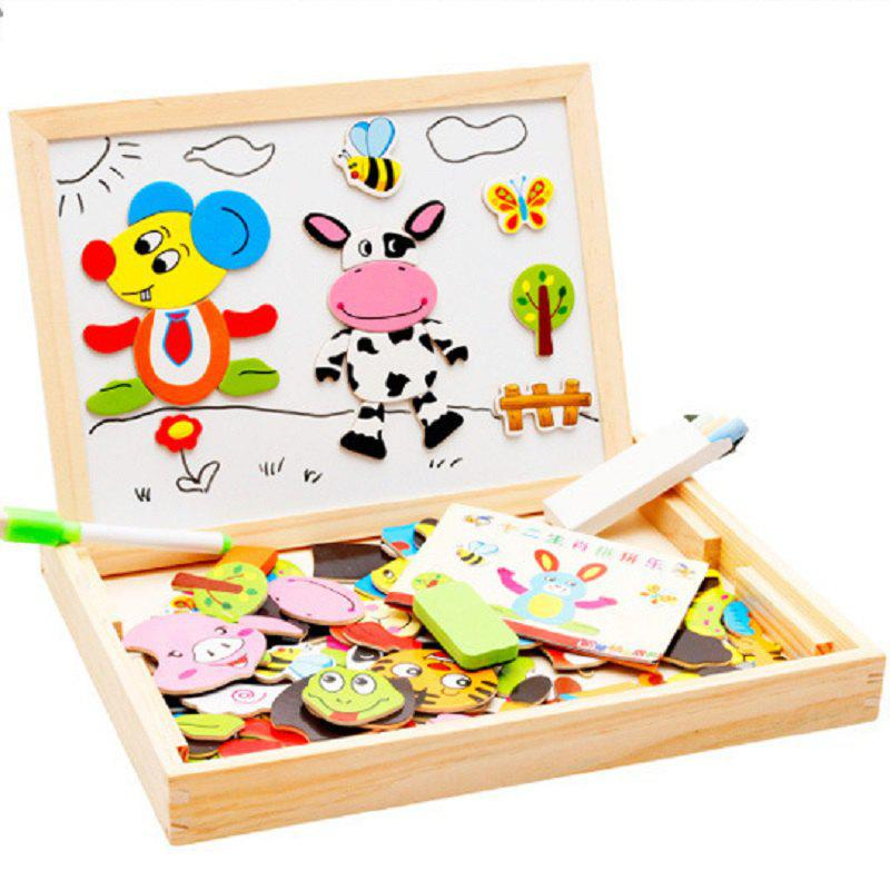 Art Educational Toys : Colour wooden educational toys magnetic art easel animals