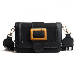 Korean Small Package Wide Straps 2018 Female Fashion Buckle Bangalor Simple All-Match Nubuck Leather Satchel -