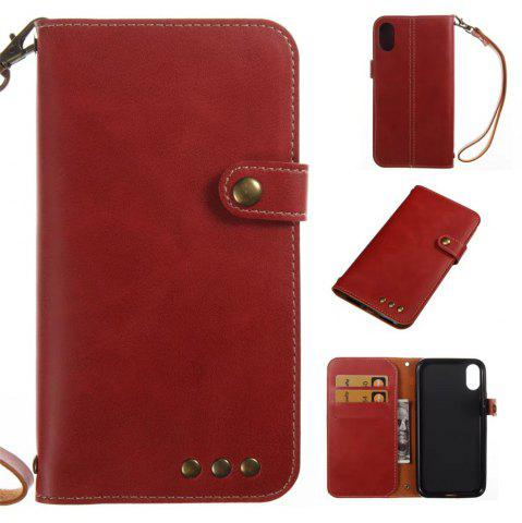 Unique For iPhone X Case Genuine Leather Flip Cover Wallet Style Shell