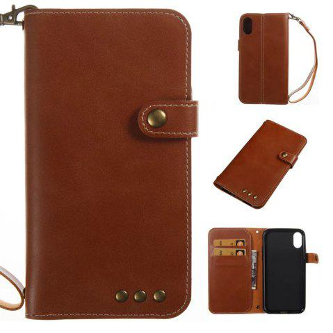 Chic For iPhone X Case Genuine Leather Flip Cover Wallet Style Shell