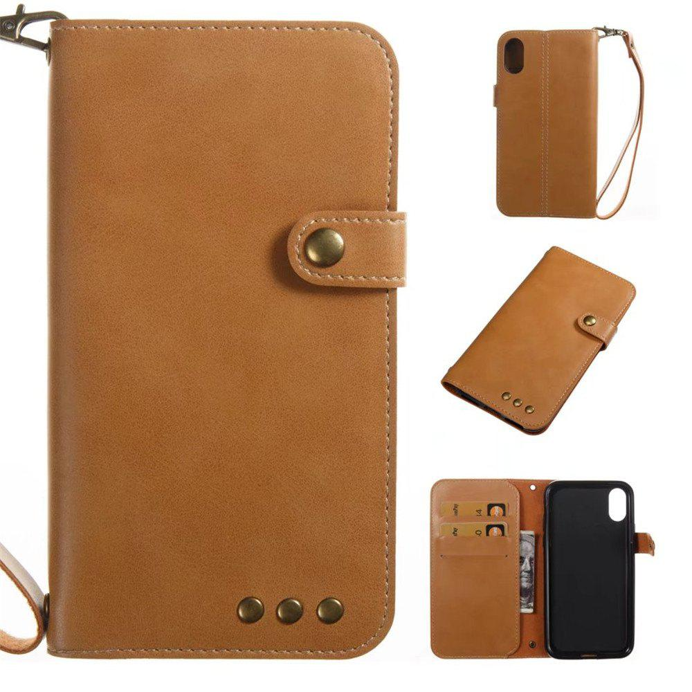 New For iPhone X Case Genuine Leather Flip Cover Wallet Style Shell