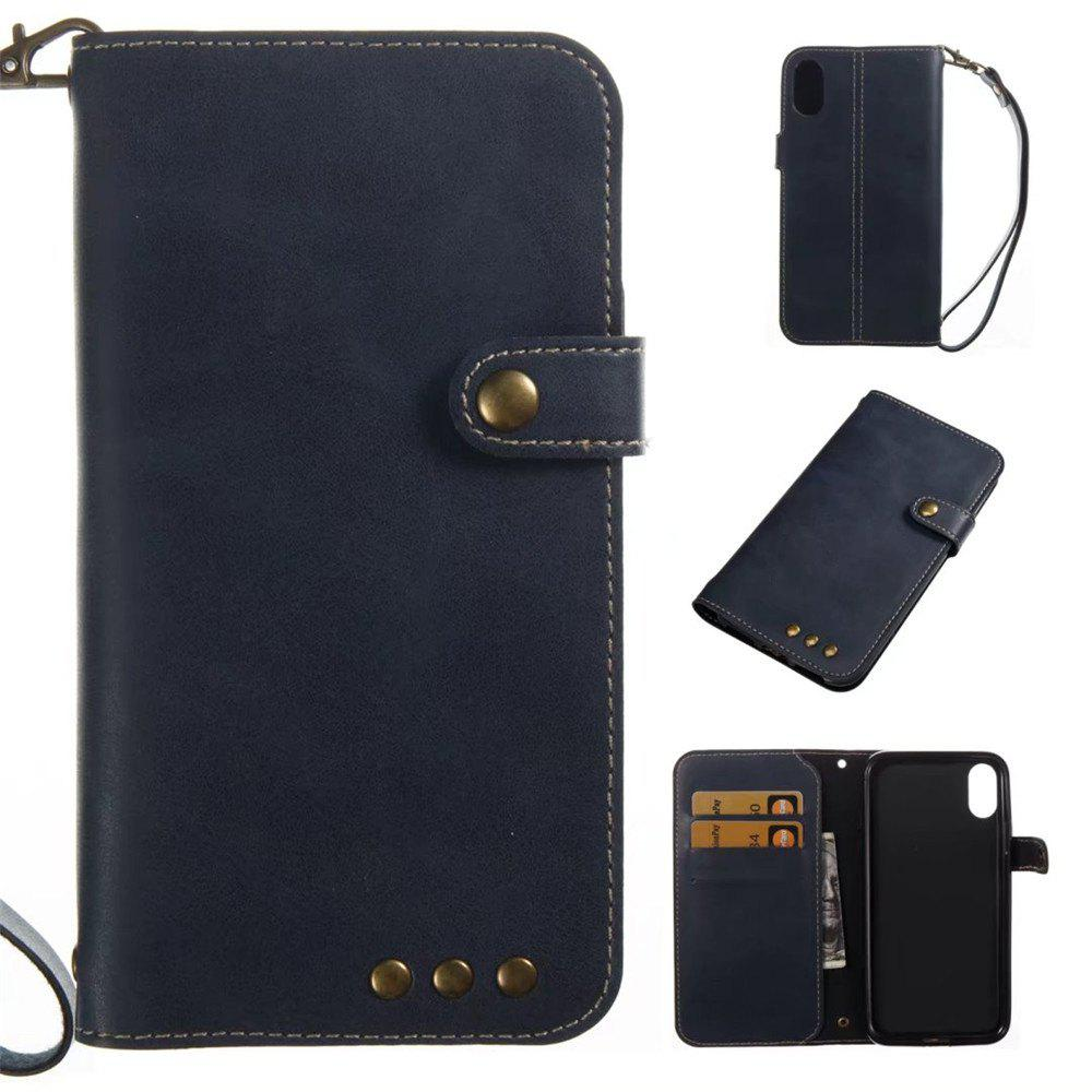 Fancy For iPhone X Case Genuine Leather Flip Cover Wallet Style Shell