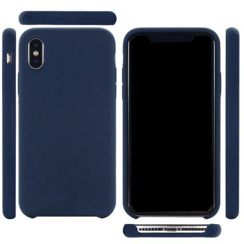 Discount Pure Color Plain Weave Rear Case Cover for iPhone X