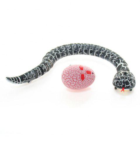 Chic Infrared Remote Control RC Black Rattlesnake Snake Fun Joke Gag Toy USB Charging